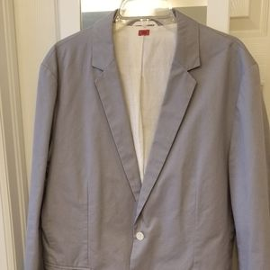 Mens 44R Hugo Boss Light Blue/Gray blazer